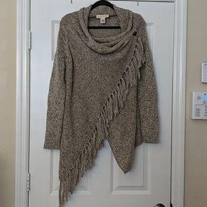 LOVESTITCH Poncho Style Wrap Shawl Sweater